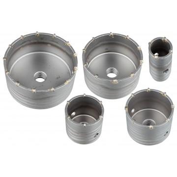 Otwornice do betonu + adapter SDS - zestaw 6-elementowy