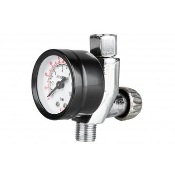 """Regulator (reduktor) ciśnienia z manometrem - przyłącze 1/4"""""""