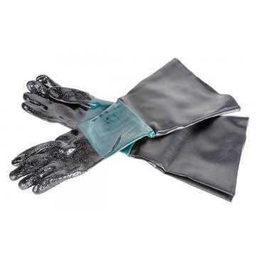 Rękawice ochronne do piaskarek kabinowych długie